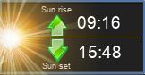 Auringon nousu ja lasku.